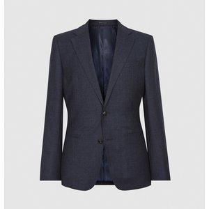 Reiss Dunn - Textured Slim Fit Blazer In Navy, Mens, Size 40 Navy Blue Reiss11702030040, Navy Blue
