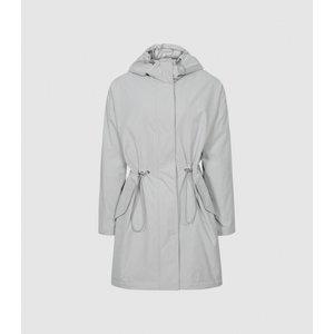 Reiss Ella - Lightweight Parka Jacket In Grey, Womens, Size S Reiss65806143001, Grey