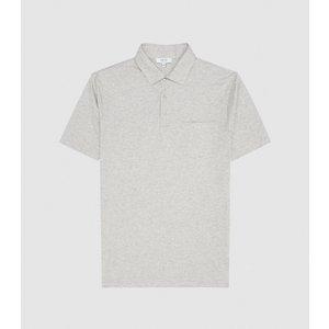 Reiss Elliot - Mercerised Egyptian Cotton Polo In Grey Melange, Mens, Size Xl Reiss41805043004, Grey Melange