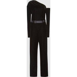 Reiss Elyse - Velvet Jumpsuit In Black, Womens, Size 16 Reiss33704020016, Black