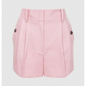 Reiss Ember - Tailored Pleat Front Shorts In Pink, Womens, Size 4 Reiss19802166004, Pink
