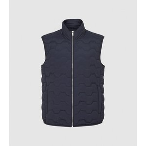 Reiss Erin - Quilted Gilet In Navy, Mens, Size L Reiss14702530003, Navy