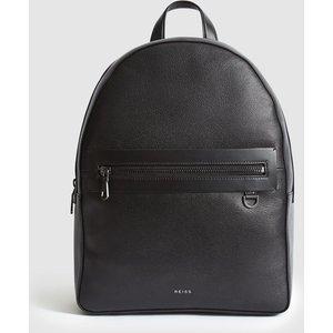 Reiss Ethan - Leather Backpack In Black, Mens Reiss94701920099, Black