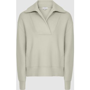 Reiss Farley - Shawl Collar Loungewear Sweatshirt In Sage, Womens, Size S Reiss86900453001, Sage