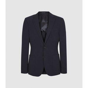 Reiss Flexo - Slim Fit Jersey-stretch Blazer In Navy, Mens, Size 42 Reiss11706730042, Navy