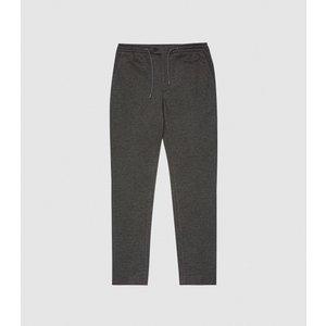 Reiss Flexo - Slim Fit Jersey-stretch Trousers In Grey, Mens, Size 38l Reiss21705543149, Grey