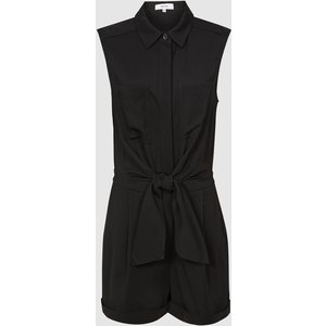 Reiss Gemma - Playsuit With Self Tie Bow Detail In Black, Womens, Size 10 Reiss33806120010, Black
