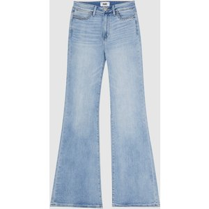 Reiss Genevieve - Paige High Rise Flared Jeans In Light Blue, Womens, Size 25 Reiss20904445525, Light Blue