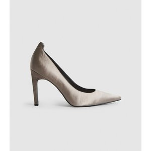 Reiss Hepburn - Satin Court Shoes In Grey, Womens, Size 7 Reiss85708643040, Grey