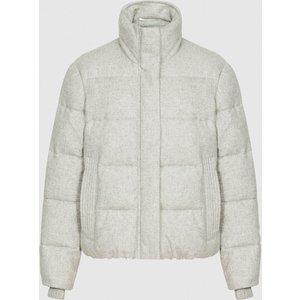 Reiss Isabel - Puffer Jacket In Pale Grey, Womens, Size S Reiss65704823001, Pale Grey