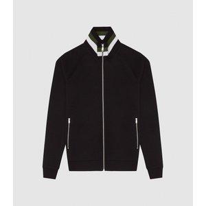 Reiss Jessy - Zip-through Jumper In Black, Mens, Size Xs Reiss41708620000, Black