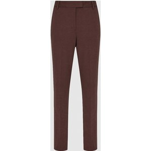 Reiss Joanne - Slim Fit Tailored Trousers In Berry, Womens, Size 14 Dark Red Reiss26708766014, Dark Red