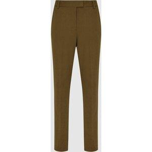 Reiss Joanne - Slim Fit Tailored Trousers In Khaki, Womens, Size 6 Reiss26708751006, Khaki