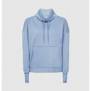 Reiss Julietta - Loungewear Funnel Neck Sweatshirt In Blue, Womens, Size L Reiss86805045003, Blue