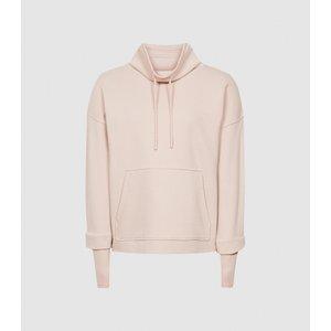 Reiss Julietta - Loungewear Funnel Neck Sweatshirt In Neutral, Womens, Size M Reiss86805003002, Neutral