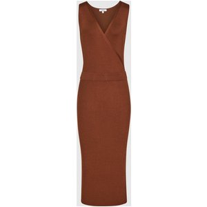 Reiss Katy - Knitted Bodycon Midi Dress In Rust, Womens, Size Xs Brown Reiss29723044000, Brown