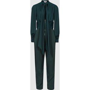 Reiss Kinley - Plunge V-neck Jumpsuit In Green, Womens, Size 12 Reiss33702750012, Green