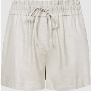 Reiss Lacey - Linen Blend Drawcord Shorts In Grey, Womens, Size 16 Reiss19801743016, Grey