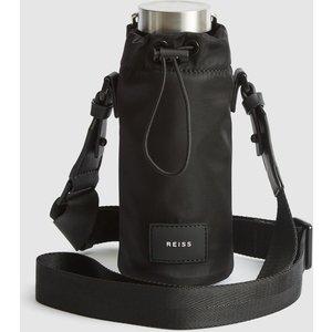 Reiss Lennox - 500ml Water Bottle With Holder In Black, Mens Reiss94823920099, Black