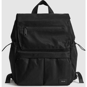 Reiss Lennox - Small Nylon Backpack In Black, Womens Reiss98811120099, Black
