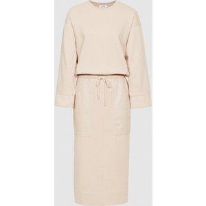 Reiss Lizabeth - Loungewear Sweatshirt Dress In Neutral, Womens, Size 18 Reiss29845103018, Neutral