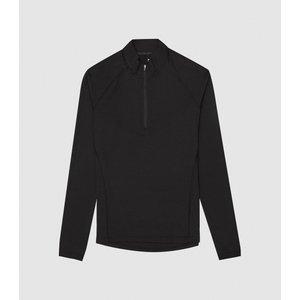Reiss Loki - High Stretch Zip Neck Top In Black, Mens, Size S Reiss41804520001, Black