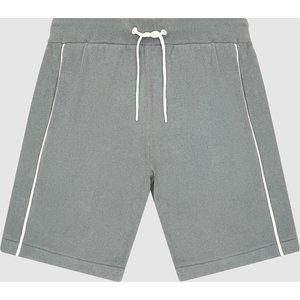 Reiss Lotus - Velour Loungewear Shorts In Sage, Mens, Size Xl Reiss51917253004, Sage