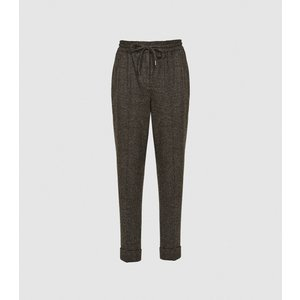 Reiss Maddie - Wool Blend Knitted Joggers In Grey, Womens, Size 12 Reiss26709443012, Grey