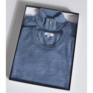 Reiss Merino Multipack - Two Pack Of Merino Wool Jumpers In Denim Mouline, Mens, Size Xs Reiss51722545000, Denim Mouline