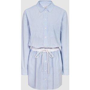 Reiss Mia - Striped Shirt Dress In Blue, Womens, Size 12 Reiss29847645012, Blue