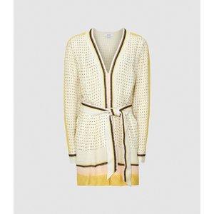 Reiss Naya - Scarf Print Playsuit In Yellow, Womens, Size 4 Reiss33805274004, Yellow