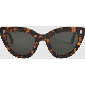 Reiss Neko - Monokel Eyewear Acetate Sunglasses In Brown, Womens Reiss99603843099, Brown