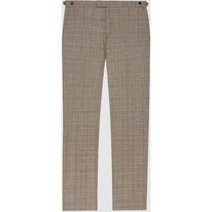 Reiss Oscar - Slim Fit Checked Trousers In Grey, Mens, Size 30 Reiss21601443030, Grey