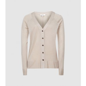 Reiss Paloma - Fine Jersey Cardigan In Blush, Womens, Size M Reiss45822467002, Blush