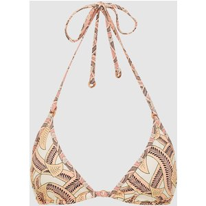 Reiss Peonie - Printed Triangle Bikini Top In Pink Print, Womens, Size 6 Reiss97804593006, Pink Print
