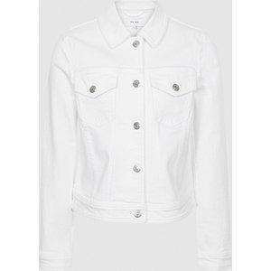 Reiss Philippa - Denim Jacket In White, Womens, Size 14 Reiss18807500014, White