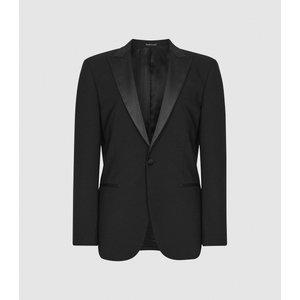 Reiss Poker - Modern Fit Performance Dinner Jacket In Black, Mens, Size 38 Reiss11707120038, Black
