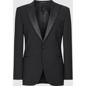 Reiss Poker - Modern Fit Performance Dinner Jacket In Black, Mens, Size 44 Reiss11509220044, Black
