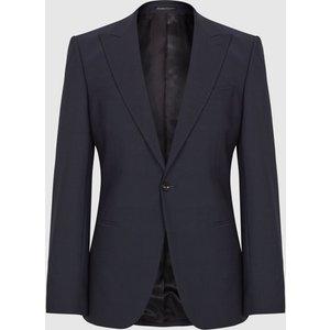 Reiss Pray - Slim Fit Travel Blazer In Navy, Mens, Size 40r Navy Blue Reiss11707530121, Navy Blue