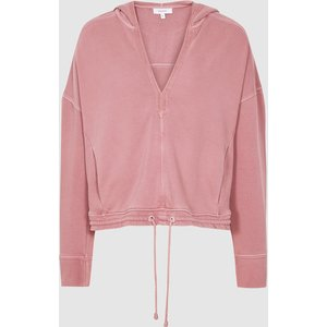 Reiss Rayna - Washed Loungewear Hoodie In Rose, Womens, Size Xs Reiss86800466000, Rose