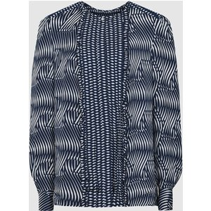 Reiss Rebecca - Printed Blouse In Navy, Womens, Size 14 Navy And White Reiss46714230014, Navy and White