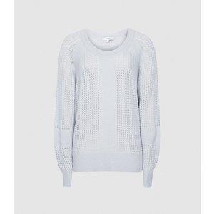 Reiss Ria - Wool Blend Open Knit Jumper In Light Blue, Womens, Size Xs Reiss55821445000, Light Blue