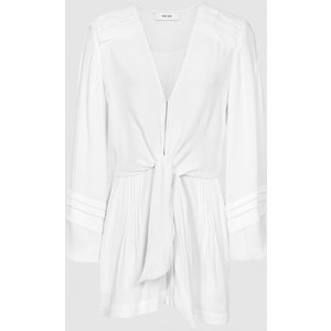 Reiss Rose - Wide Sleeve Playsuit In White, Womens, Size 10 Reiss33803000010, White