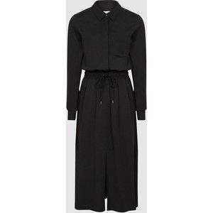 Reiss Rosie - Midi-length Shirt Dress In Black, Womens, Size 4 Reiss29845520004, Black