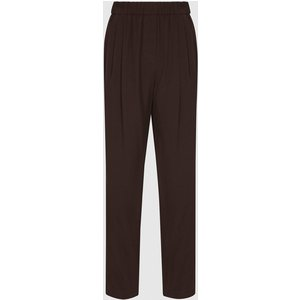 Reiss Roxy - Relaxed Fit Tapered Trousers In Mid Brown, Womens, Size 6 Reiss26707814006, Brown