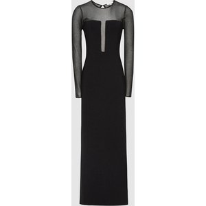 Reiss Sabrina - Maxi Dress With Semi Sheer Panelling In Black, Womens, Size Xl Reiss29733620004, Black