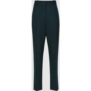 Reiss Sadie - Slim Fit Tailored Trousers In Green, Womens, Size 18 Dark Green Reiss25704850018, Dark Green