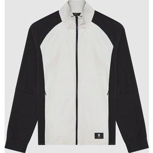 Reiss Sawgrass - Lightweight Performance Jacket In Smoke/black, Mens, Size S Reiss14805520001, Smoke/Black