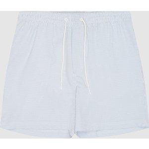 Reiss Simon - Seersucker Swim Shorts In Soft Blue, Mens, Size Xl Reiss43801333004, Soft Blue