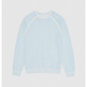 Reiss Tarin - Melange Crew Neck Jumper In Soft Blue, Mens, Size Xl Reiss51817433004, Soft Blue